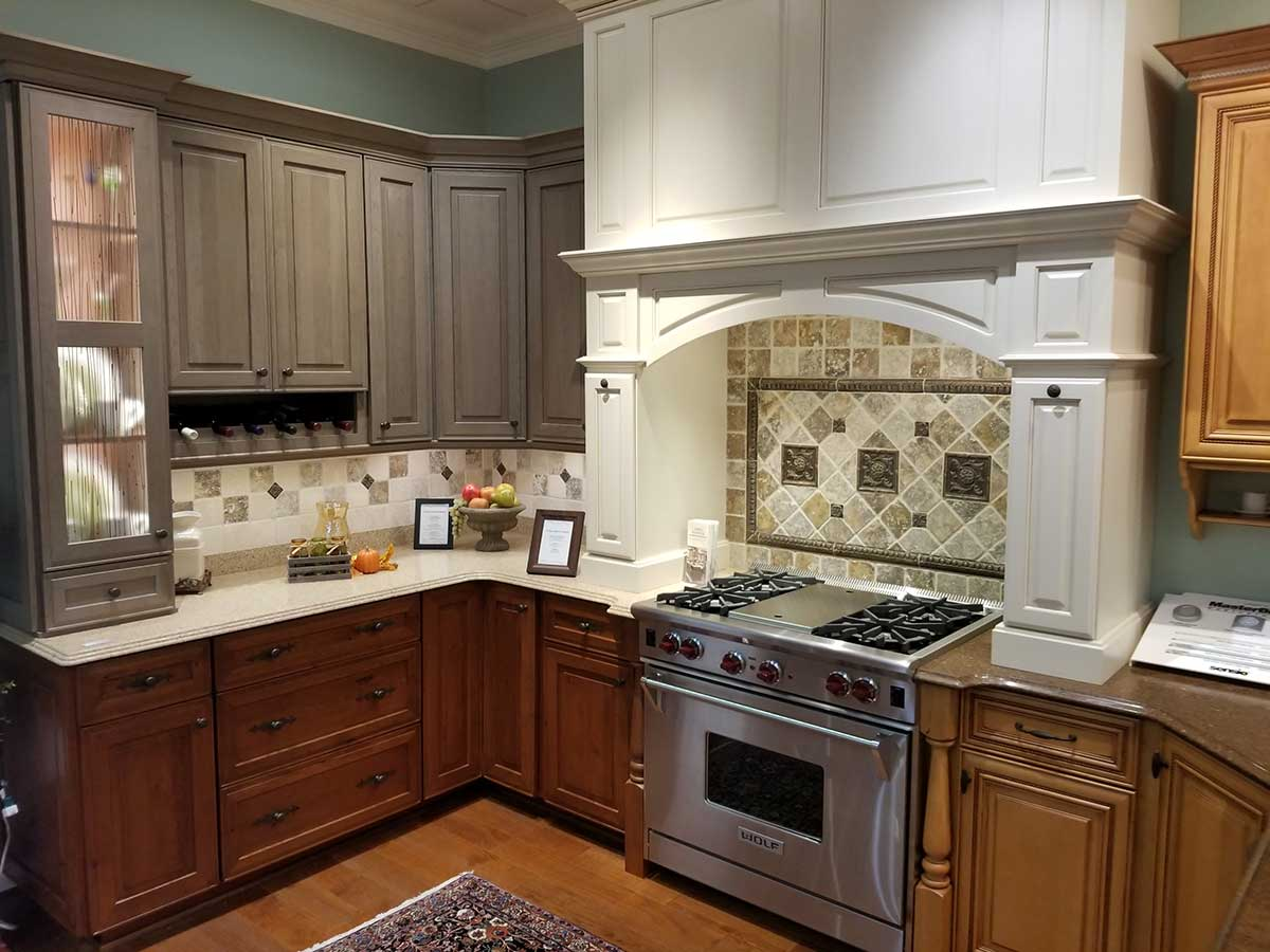 mixed cabinetry